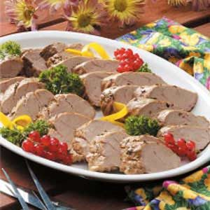 Pork Tenderloin with Herb Sauce Recipe