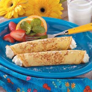Sweet Corn Blintzes Recipe