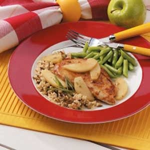 Tarragon Chicken with Apples for Two Recipe