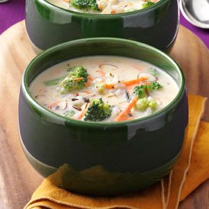Wild Rice with Broccoli Soup