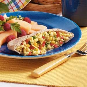 Confetti Scrambled Egg Pockets Recipe