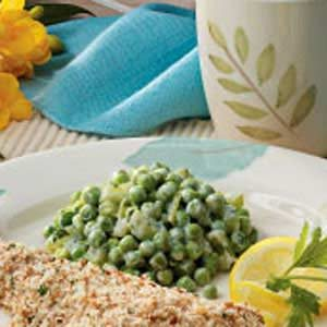 Creamy Celery and Peas