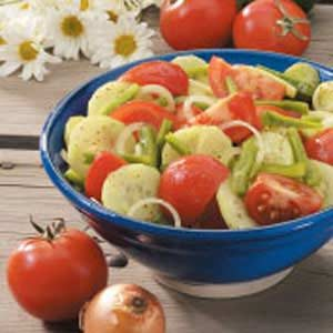 Fresh Garden Vegetable Salad Recipe