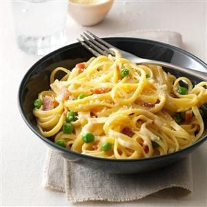 Light Linguine Carbonara Recipe
