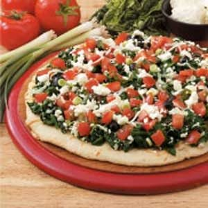 Four-Cheese Spinach Pizza Recipe