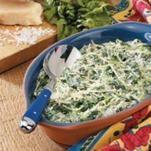 Quick Creamed Spinach