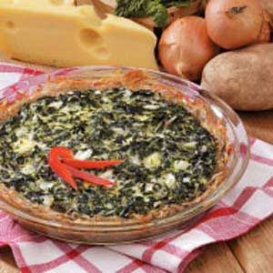 Potato Spinach Pie Recipe