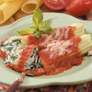 Overnight Spinach Manicotti Recipe