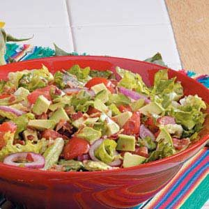Guacamole Tossed Salad Recipe