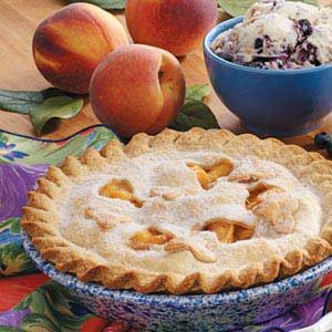 Fresh and Creamy Peach Pie Recipe