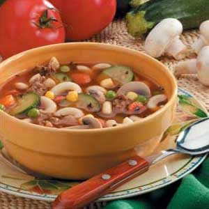 Hearty Vegetable Hamburger Soup Recipe