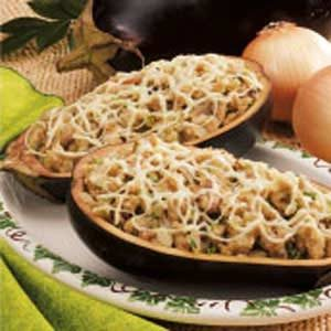 Eggplant with Mushroom Stuffing Recipe