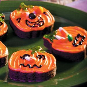 Jack-o'-Lantern Brownies