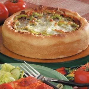 Sausage Deep Dish Pizza Recipe