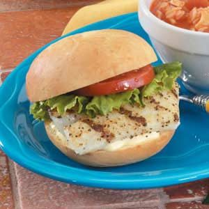 Grilled Fish Sandwiches Recipe