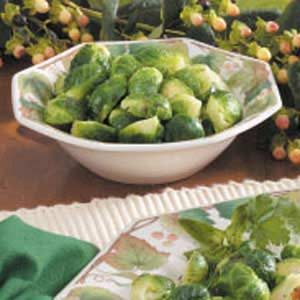 Basil Brussels Sprouts Recipe
