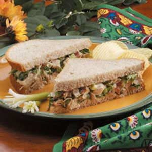 Turkey Salad on Wheat