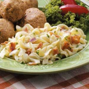 Hot German Noodle Salad Recipe