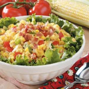 Fresh Corn Bread Salad Recipe