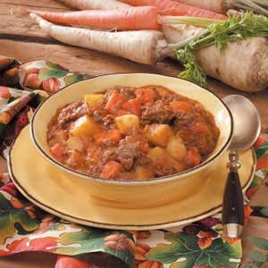 Root Vegetable Beef Stew Recipe