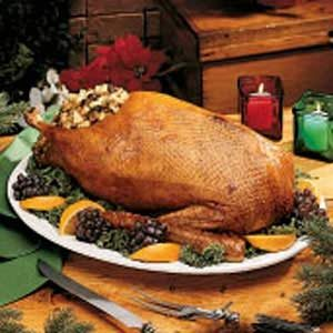 Goose with Apple-Prune Stuffing Recipe