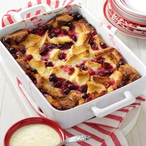 Cranberry Bread Pudding Recipe