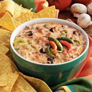 Cheesy Beef Taco Dip Recipe