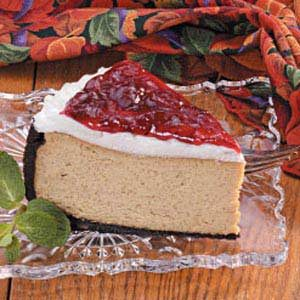 Cranberry Mocha Cheesecake Recipe