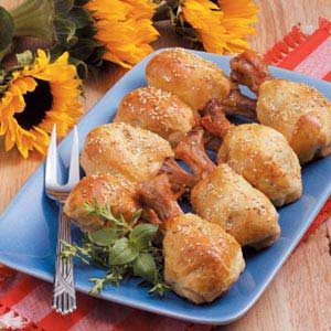 Crescent-Wrapped Drumsticks Recipe