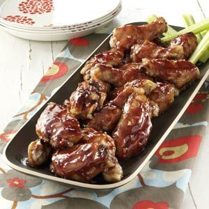 Raspberry Barbecue Wings Recipe