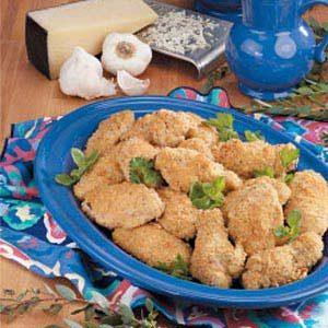 Garlic-Cheese Chicken Wings Recipe