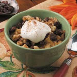 Raisin-Nut Bread Pudding Recipe