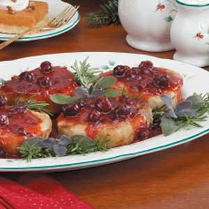 Holiday Cranberry Pork Chops Recipe
