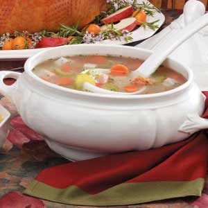 Turkey Rice and Barley Soup Recipe