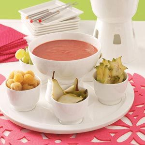 Warm Strawberry Fondue Recipe