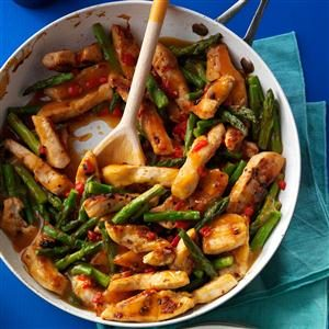 Asparagus Turkey Stir-Fry Recipe