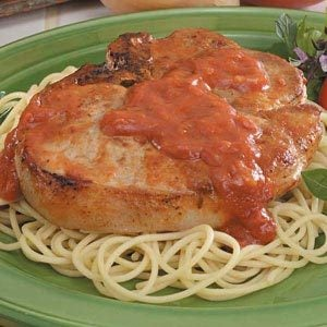 Spaghetti Pork Chops Recipe