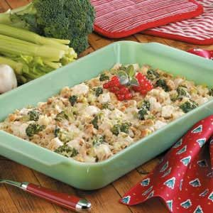Chicken and Swiss Stuffing Bake Recipe