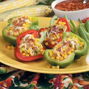 Bacon-Corn Stuffed Peppers