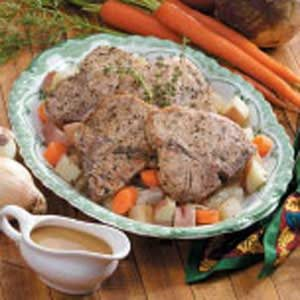 Cider Pork Chop Dinner Recipe