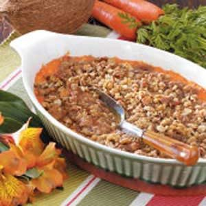Coconut Carrot Casserole Recipe