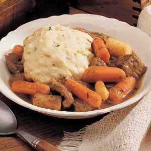 Herbed Beef Stew and Dumplings