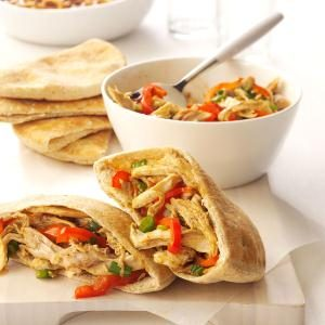 Asian-Style Turkey Pitas Recipe