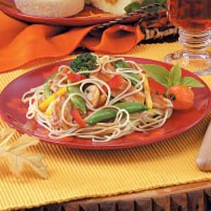 Szechuan Chicken Noodle Toss Recipe