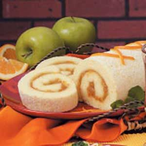 Orange Sponge Cake Roll Recipe