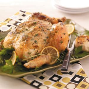 Garlic-Herb Roasted Chicken Recipe