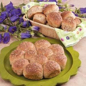 Three Grain Pan Rolls Recipe