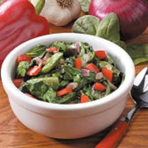 Sauteed Spinach and Peppers Recipe