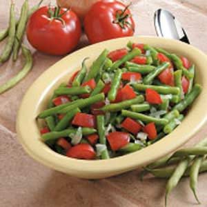 Garlic Green Beans with Tomatoes Recipe