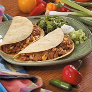 Pork Soft-Shell Tacos Recipe